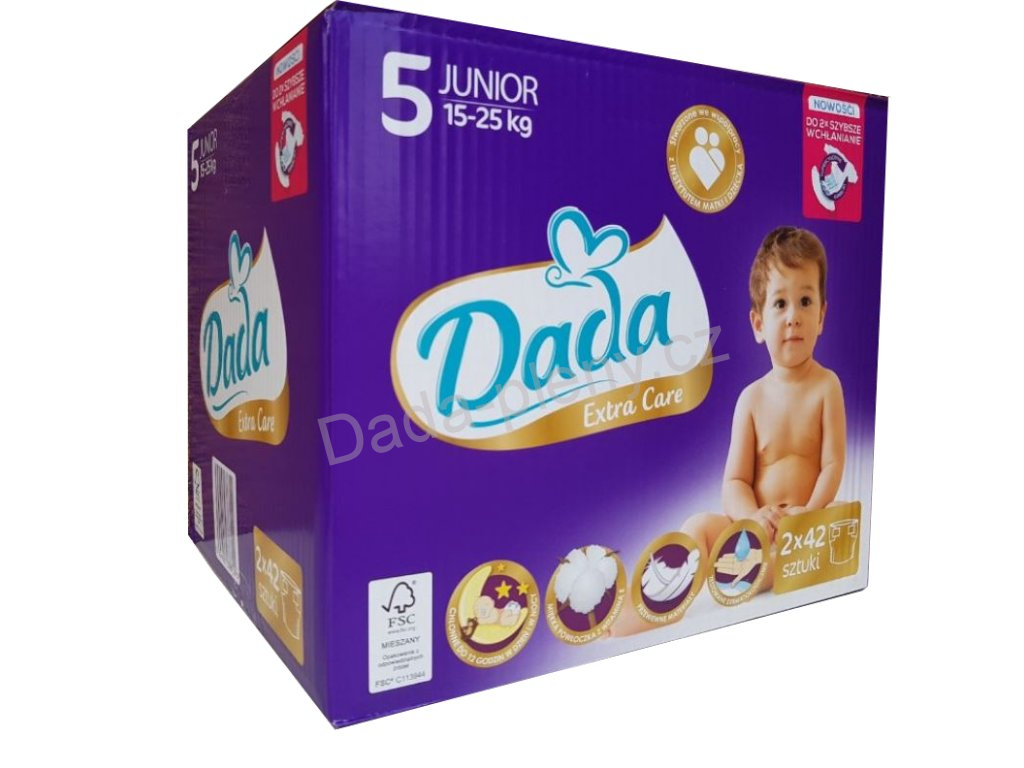 Dada plenky Extra Care 5  Box - 15-25KG 84Ks