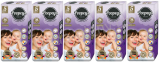 Plenky Poopeys 5 Junior 38ks 11-25kg - SET 5ks